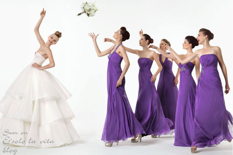 Фиолетовые платья для дружки