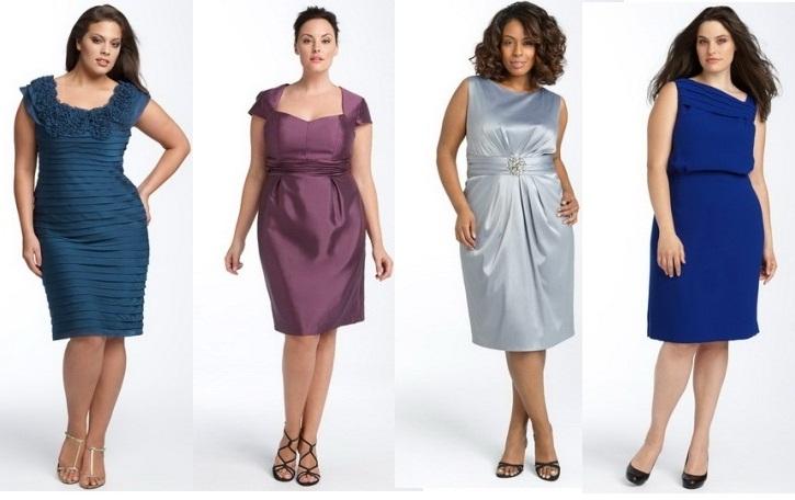 Платье с асимметричным разноуровневым подолом. Такой фасон делает акцент на красивые ноги. модные платья для полных