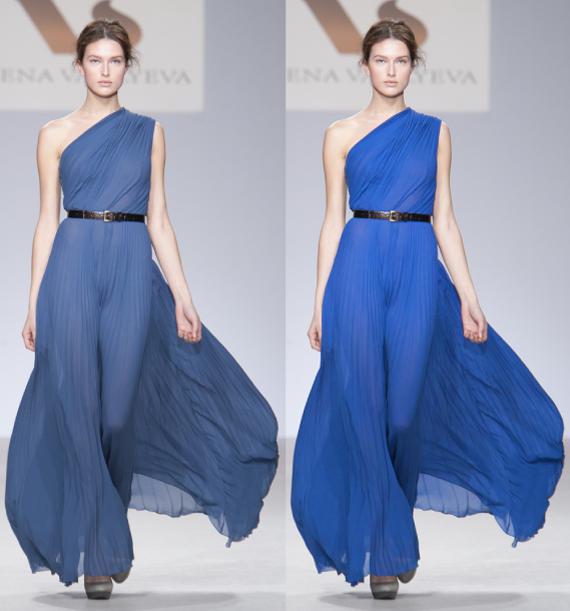 оттенки платья