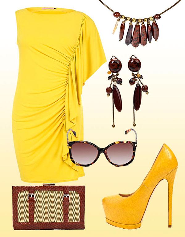 подружка в желтом