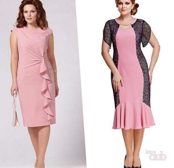Платье на полных женщин ниже колена