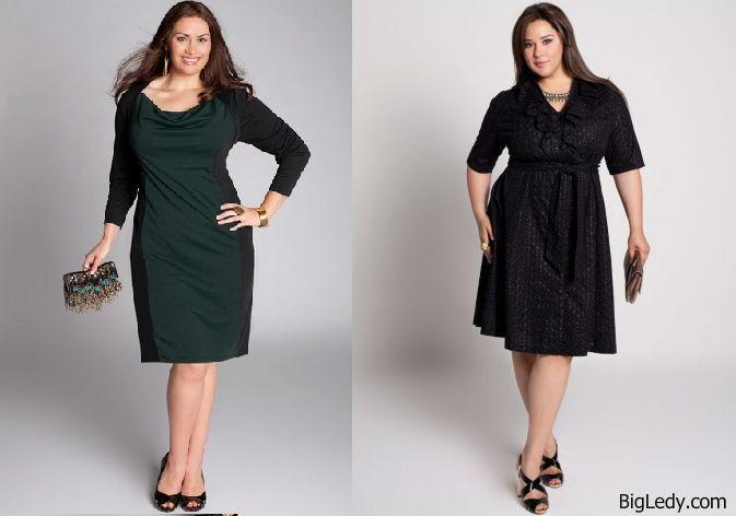Красно черное платье для полных женщин