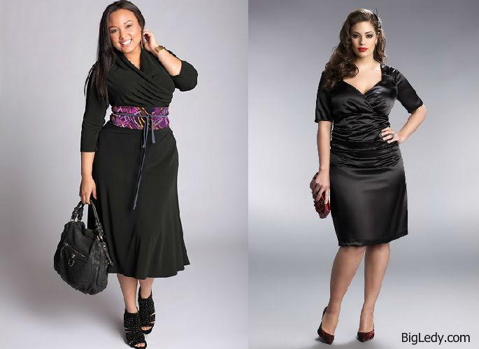 Черное Прямое Платье Для Полных 86