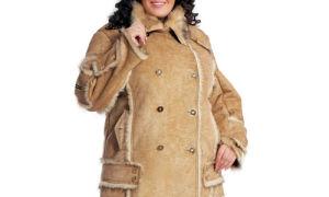 Дубленки для полных женщин: Модно и тепло.