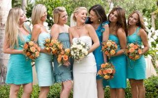 Платье подружки невесты. Выбираем цвет…