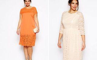 Кружевные платья для полных
