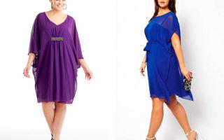 Платье из шифона для полных женщин