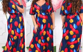 Как правильно выбрать длинное платье для полных женщин?