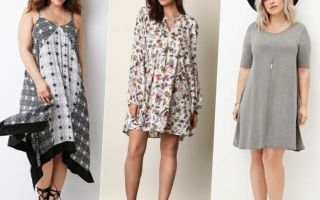 Платье-трапеция для полных: выбираем наряд для любого сезона