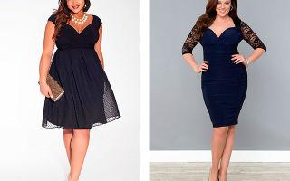 Модные платья для полных женщин фото