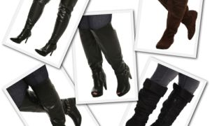 Женские сапоги на полную ногу, с широким голенищем. Осень-Зима.