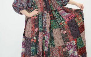 Платье в стиле бохо для полных