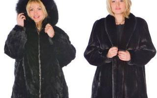 Зимняя шуба для женщин полной комплекции