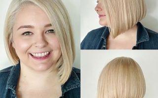 Фото стрижек на средние волосы для полных