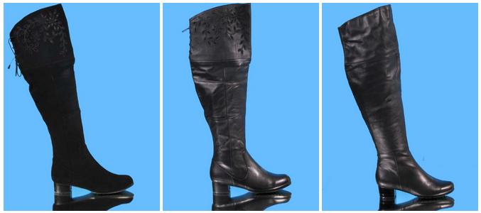 feac28aa48e Сапоги большого размера для женщин с полными ножками.
