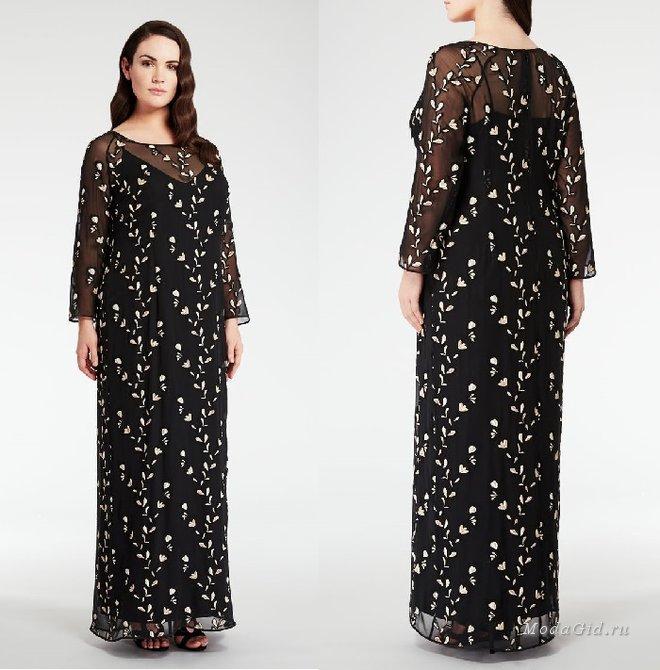 55d39bfb0a4 Платье в пол для полных женщин
